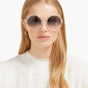 Celine Eyewear's transparent oversized sunglasses